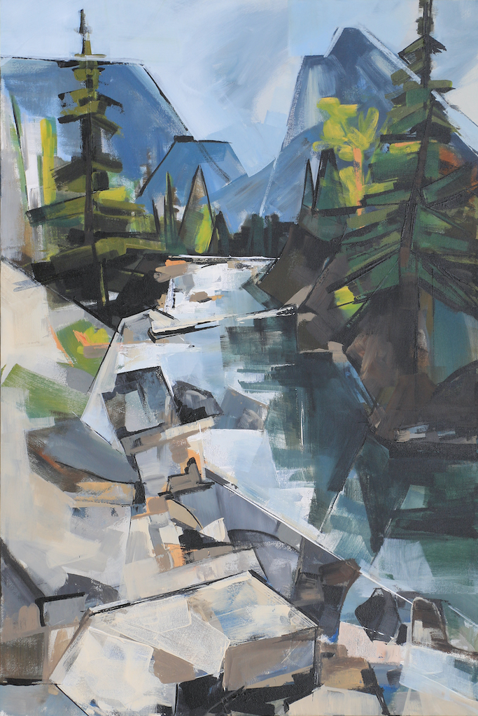 Mountain Creekside by  Katie Leahul - Masterpiece Online