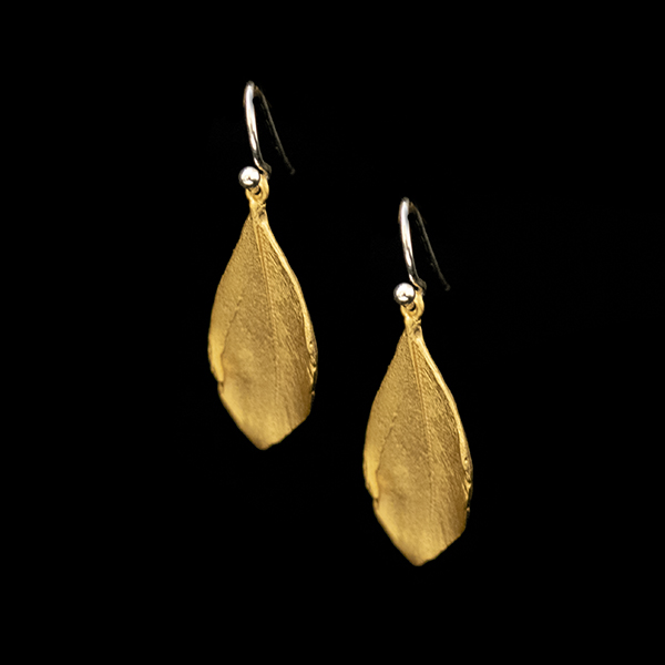 Feather Gold Wire Earrings