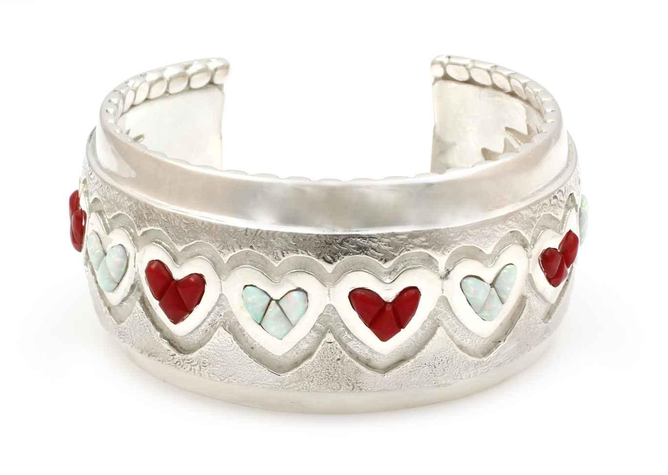 One Dozen Hearts Cuff... by  Ben Nighthorse - Masterpiece Online