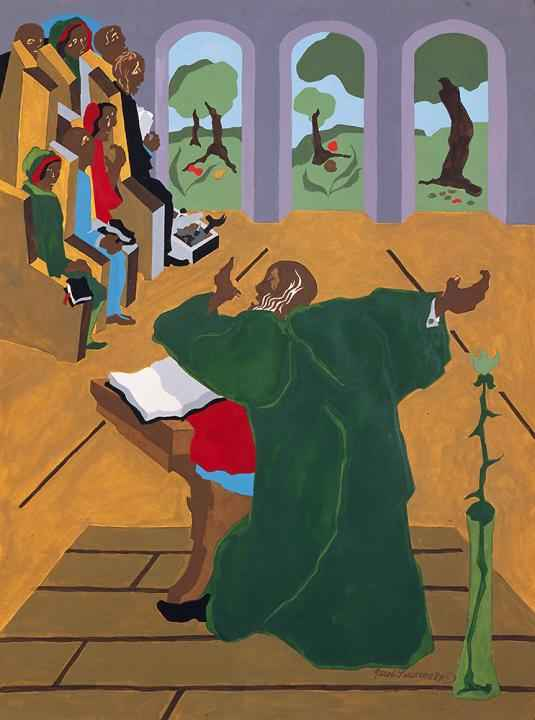 And God Said (Preache... by  Jacob Lawrence - Masterpiece Online