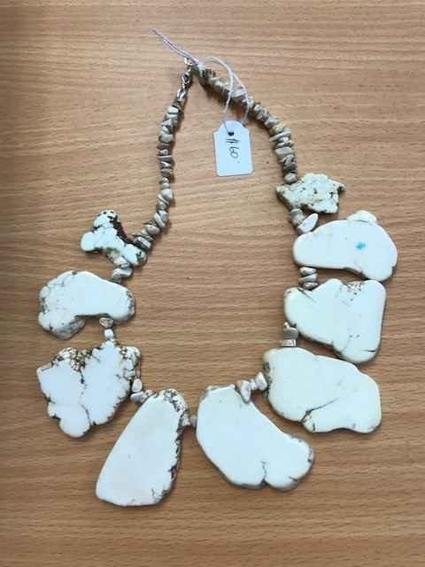 White Stone Necklace by Mrs Larissa Hale - Masterpiece Online