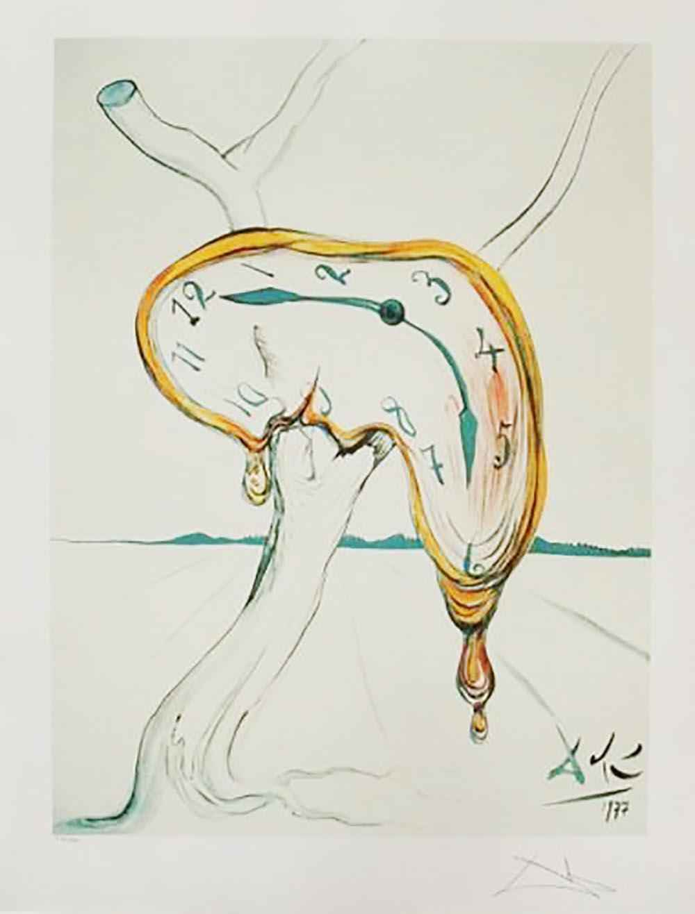 """Tear of Time"" (Melti... by  Salvador Dali - Masterpiece Online"