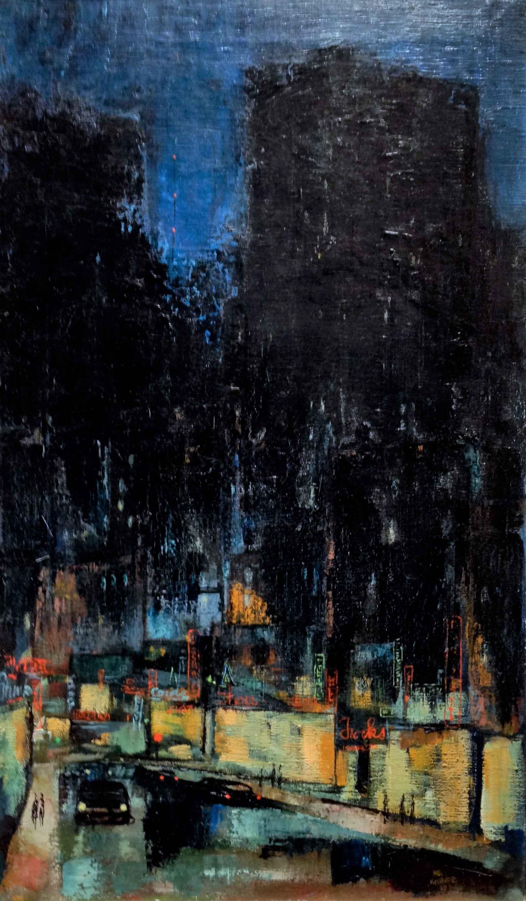 Wisconsin Ave. Rainy ... by Mr. Mel Kishner - Masterpiece Online