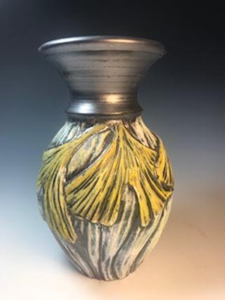 Gold Ginkgo Vase