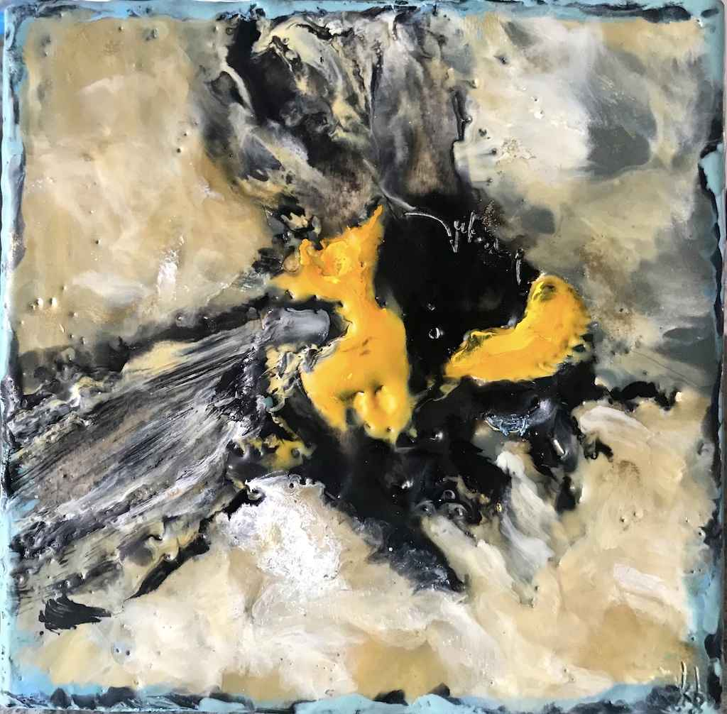 Little Blue Gold / On... by  Kathy Bradshaw - Masterpiece Online