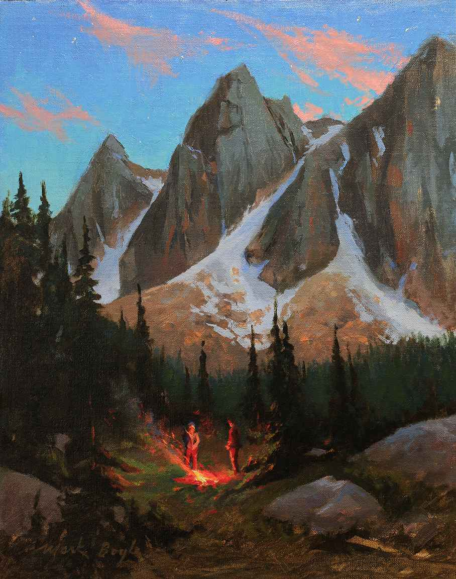 Camp in the Sawtooths by Mr Mark Boyle - Masterpiece Online