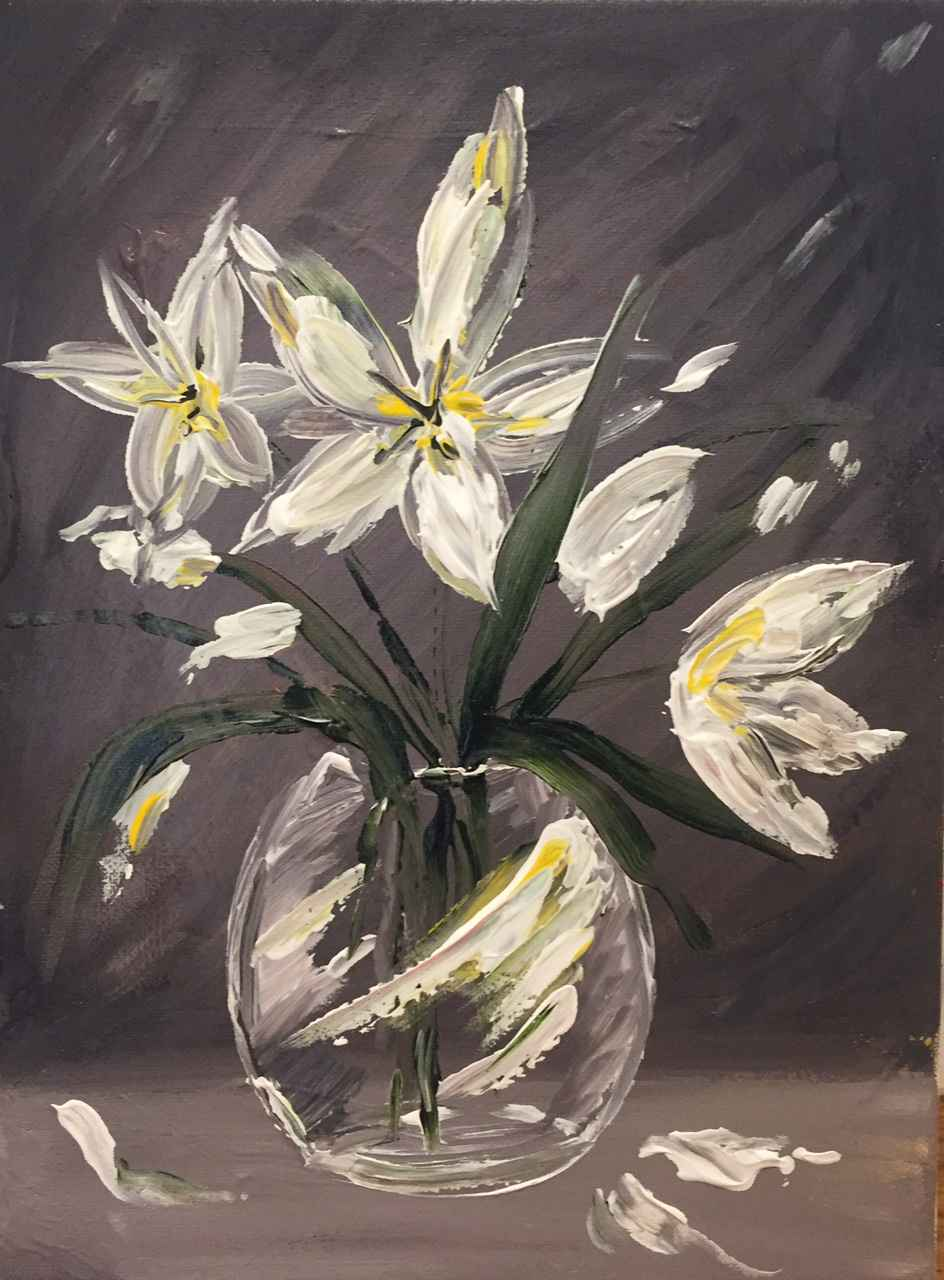 White Lillies by  Boston Logan - Masterpiece Online