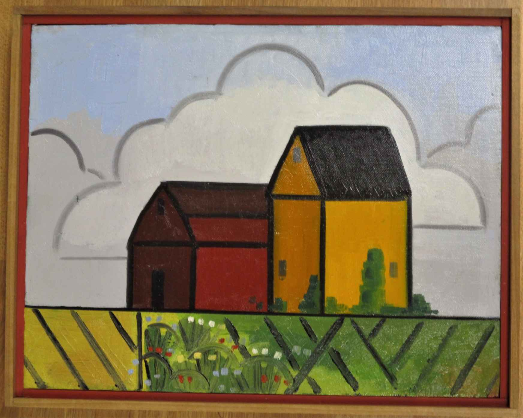 Yellow and Red Farm by  Richard Thompson - Masterpiece Online