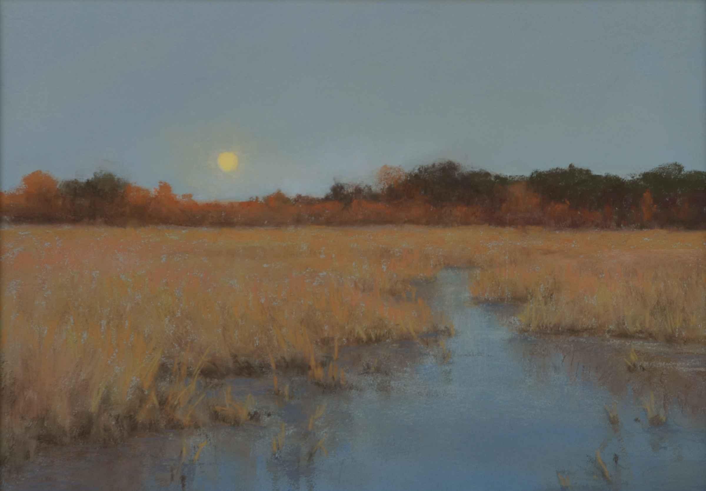 Marsh Moonlight by  Denise LaRue Mahlke - Masterpiece Online