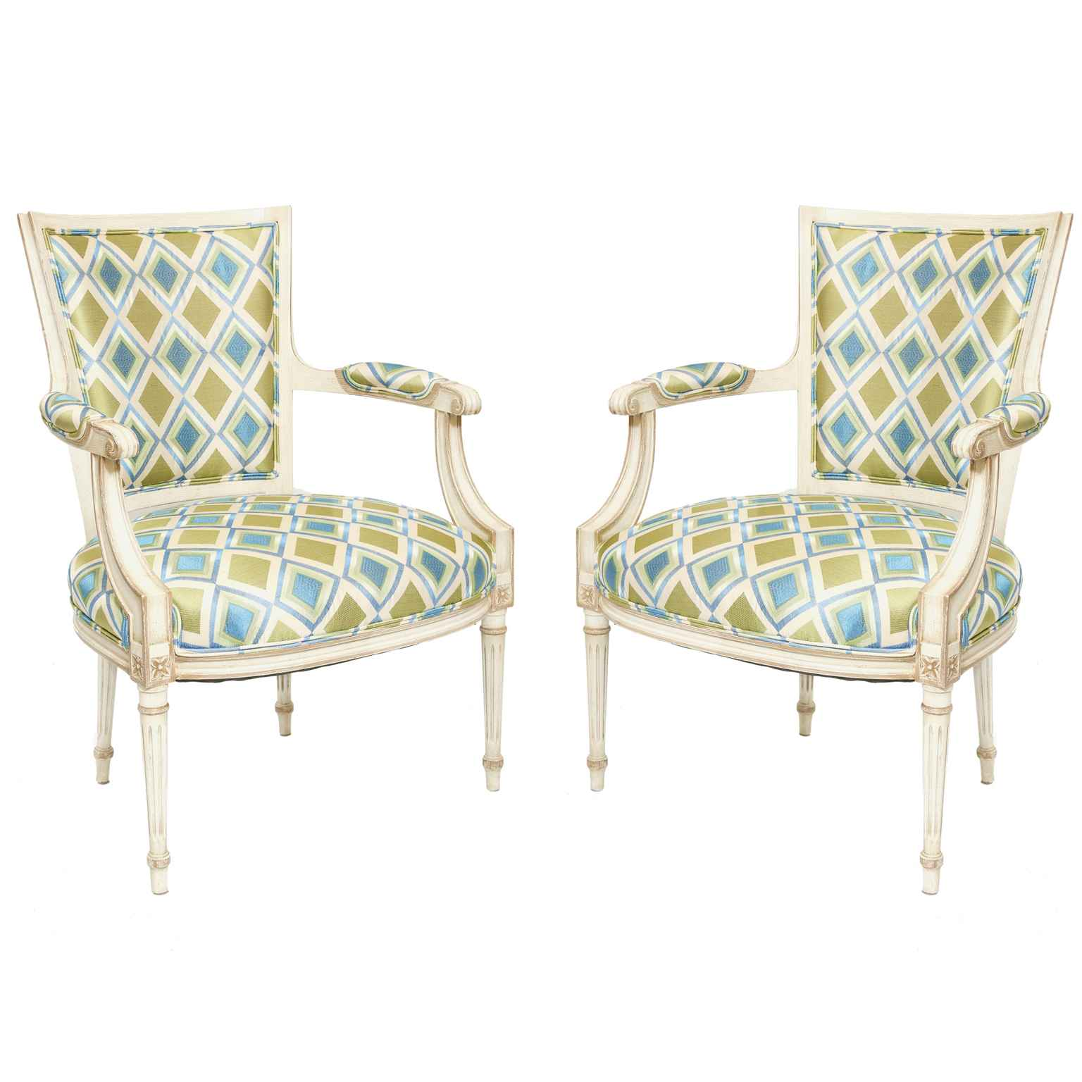 Pair of Painted Frenc... by  French  - Masterpiece Online