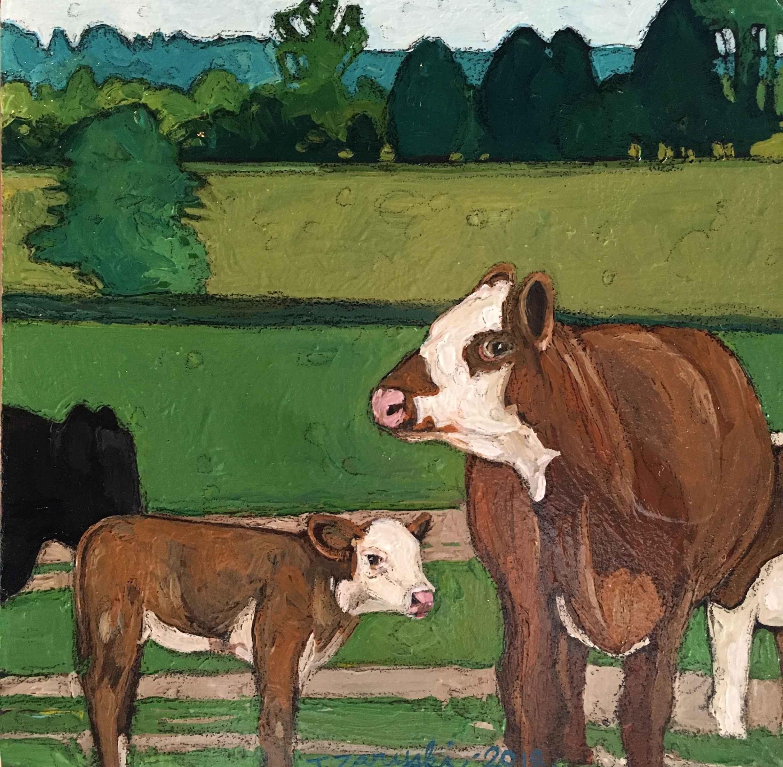 Cows by  Tanya Zaryski - Masterpiece Online