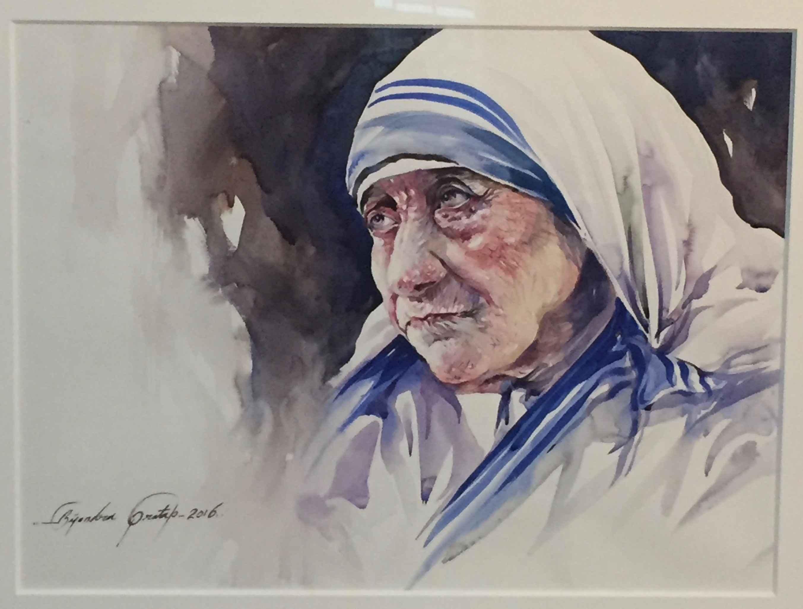 Mother Teresa (Stern) by  Bijendra Pratap - Masterpiece Online