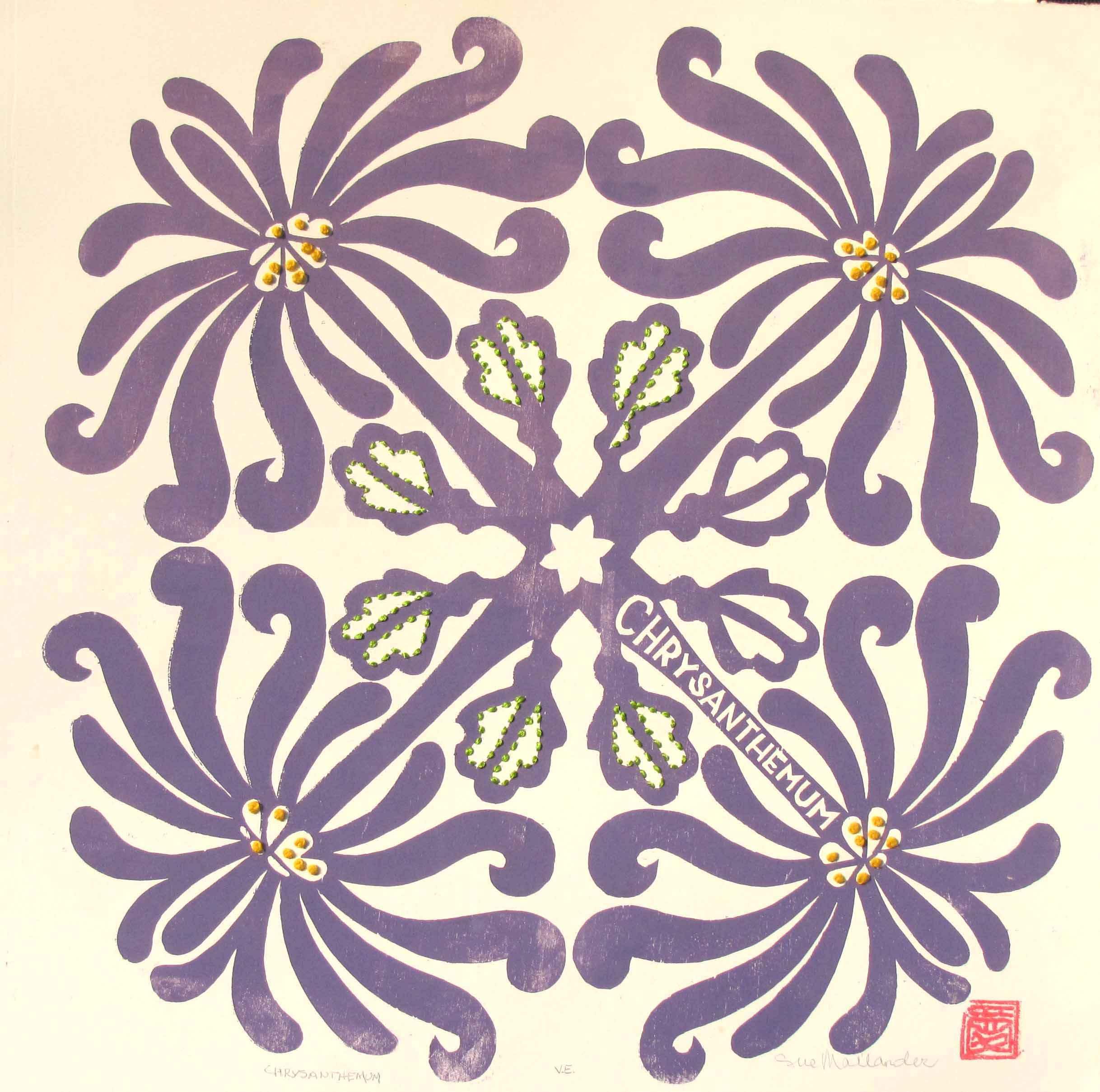 Chrysanthemum Quilt by  Sue Mailander - Masterpiece Online