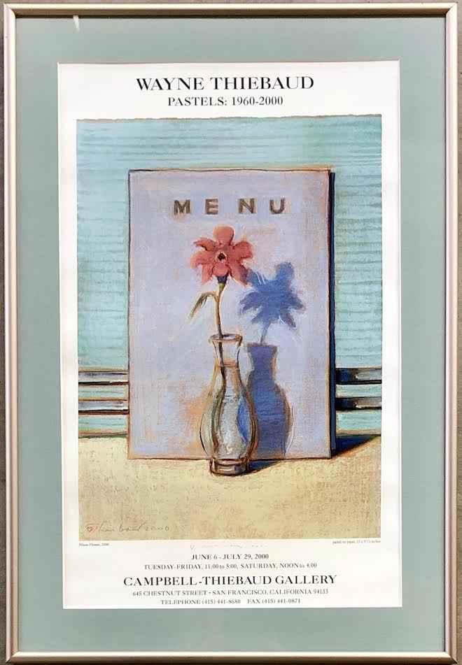 Menu Flower (T29)  si...  by  Wayne Thiebaud