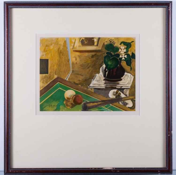 Le Petit Billard by  Georges Braque - Masterpiece Online