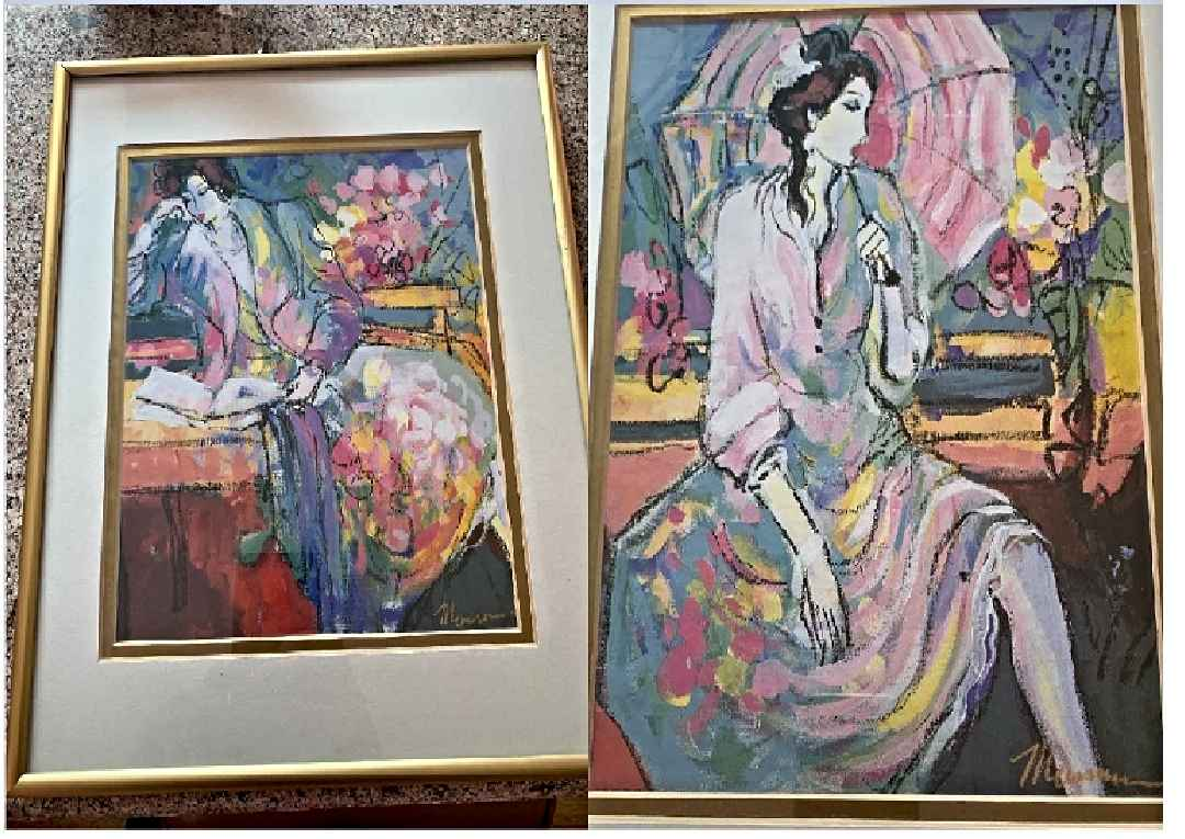 2 Pastels;Reader's Ch... by  Isaac Maimon - Masterpiece Online