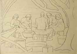 Hawaiian Outline by  Alexander Samuel MacLeod (1888-1956) - Masterpiece Online