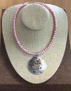 Pink fresh water pear... by Mrs Larissa Hale - Masterpiece Online
