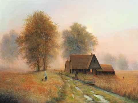 Village Gossip by  Roger  Budney - Masterpiece Online