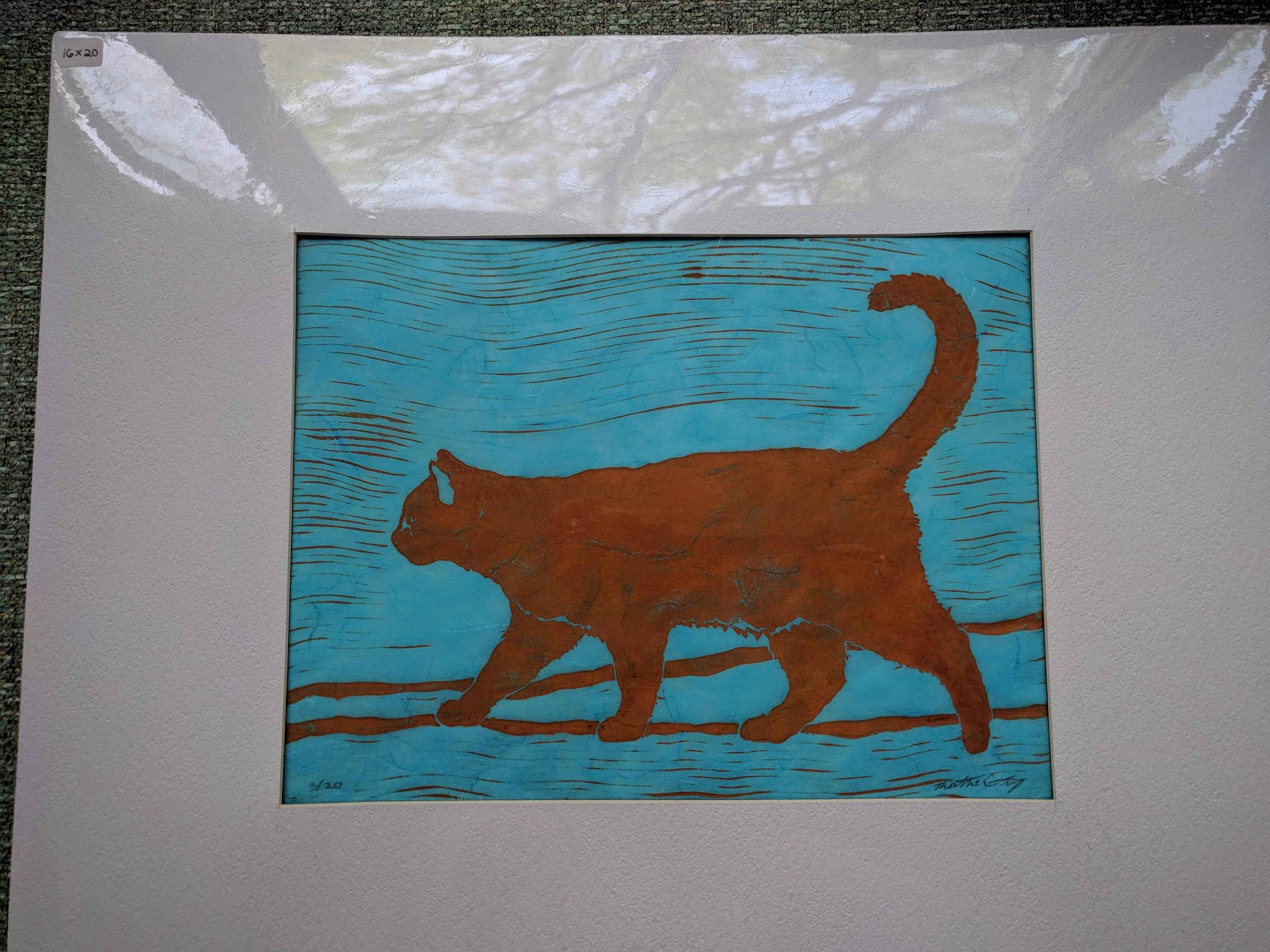 Cat (matted) by  Katherine Grey - Masterpiece Online