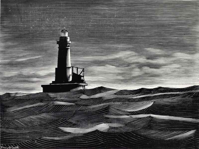 Lighthouse print 3 by  Bernard Brussel-Smith (1914-1989) - Masterpiece Online