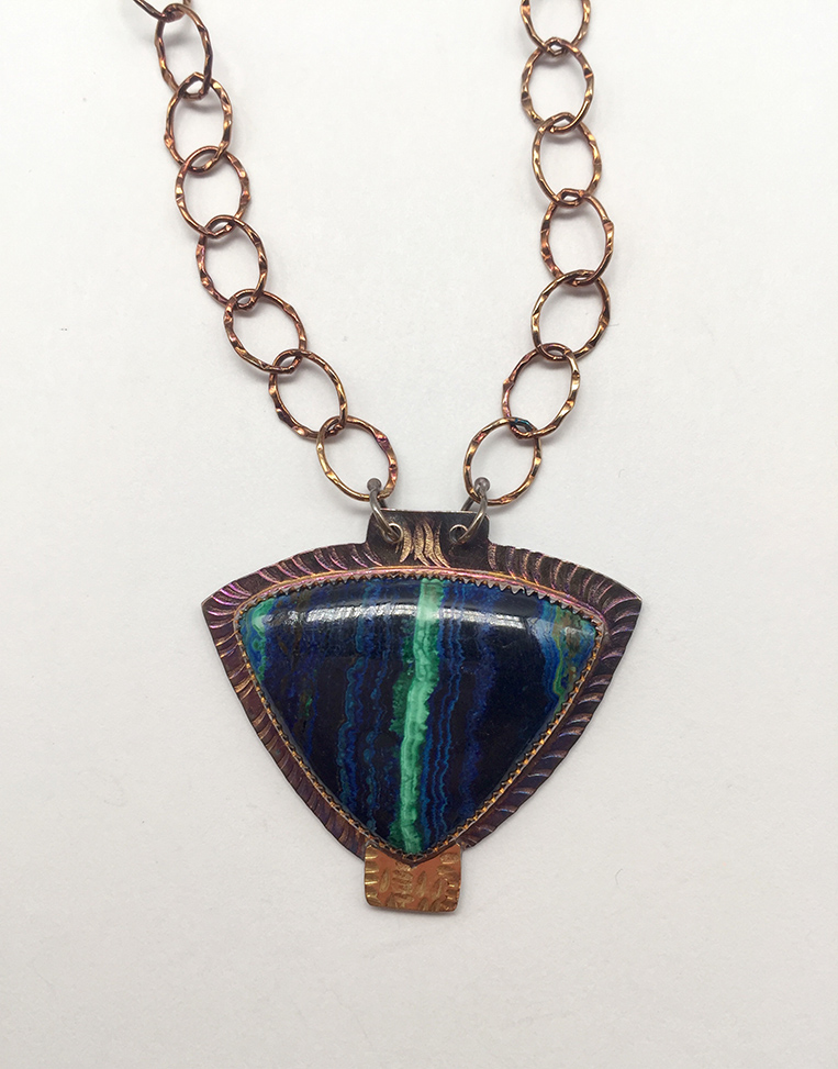 Azurite/Malachite, Sterling and 22k Necklace