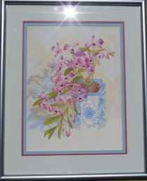 Purple Dendrobiums in... by  John Thomas (1927-2001) - Masterpiece Online