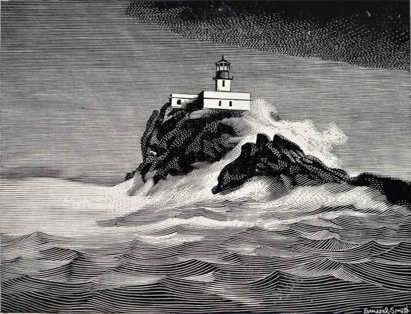 Lighthouse print 1 by  Bernard Brussel-Smith (1914-1989) - Masterpiece Online