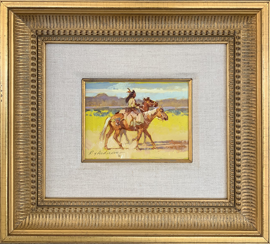 Indian With Two Horse... by Mr. Roy Andersen - Masterpiece Online