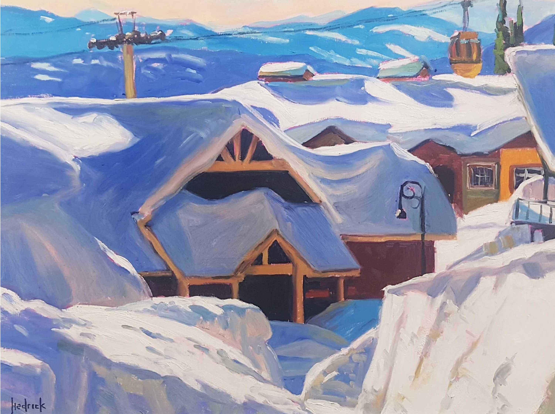 Fresh Powder at Big W... by  Ron Hedrick - Masterpiece Online