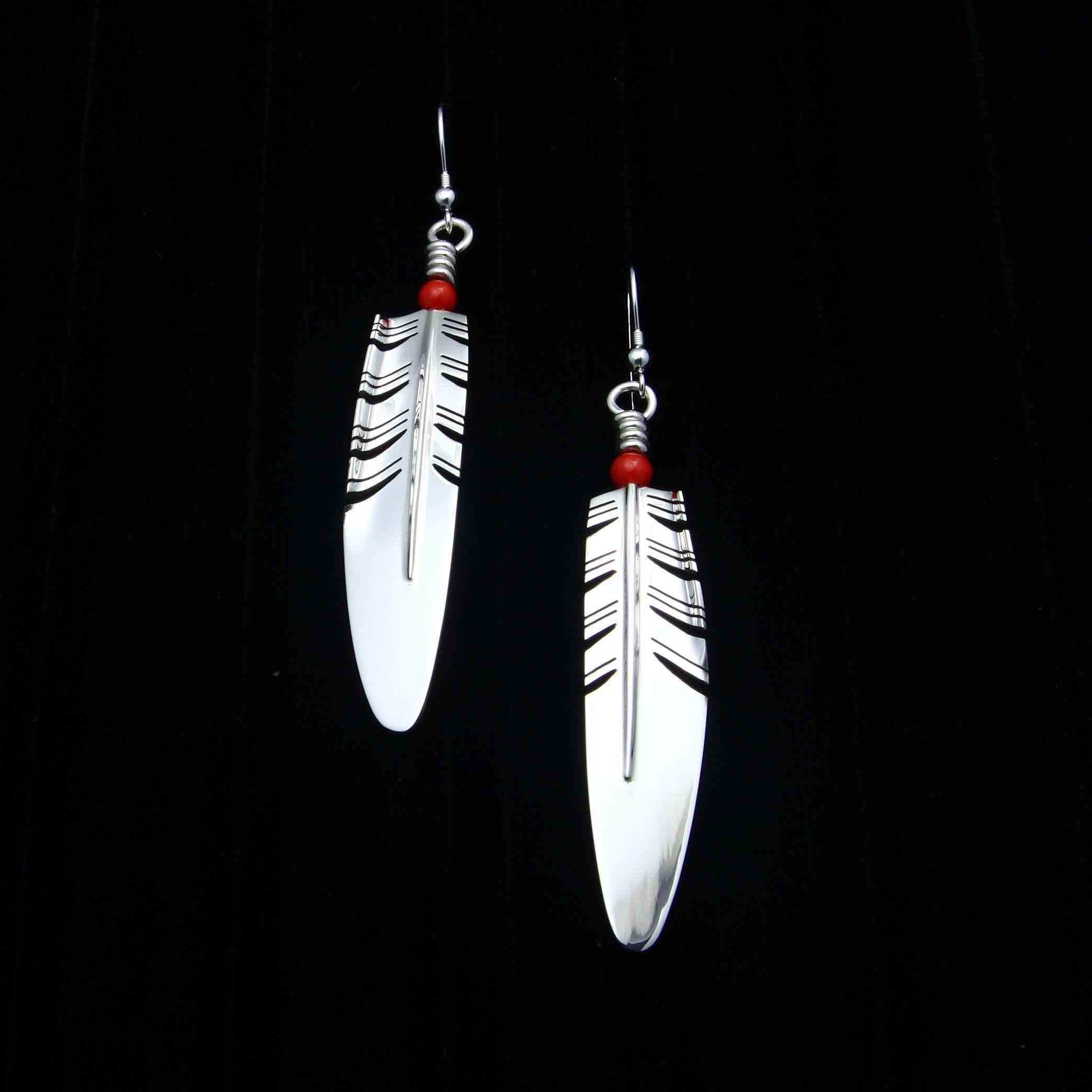 Large Feather Earring... by  Ray Tracey - Masterpiece Online