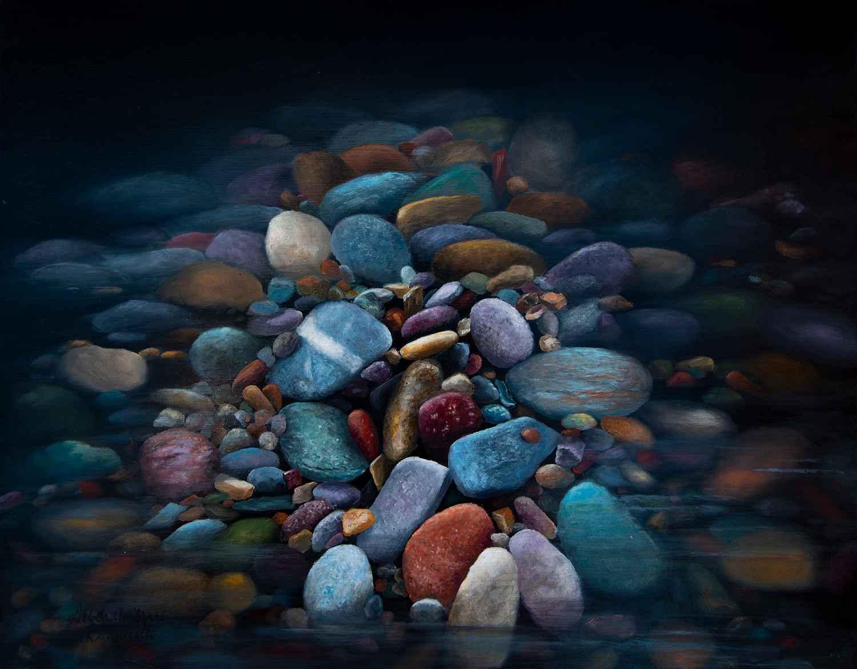 Rocks In A Stream  by  Deborah Bonuccelli