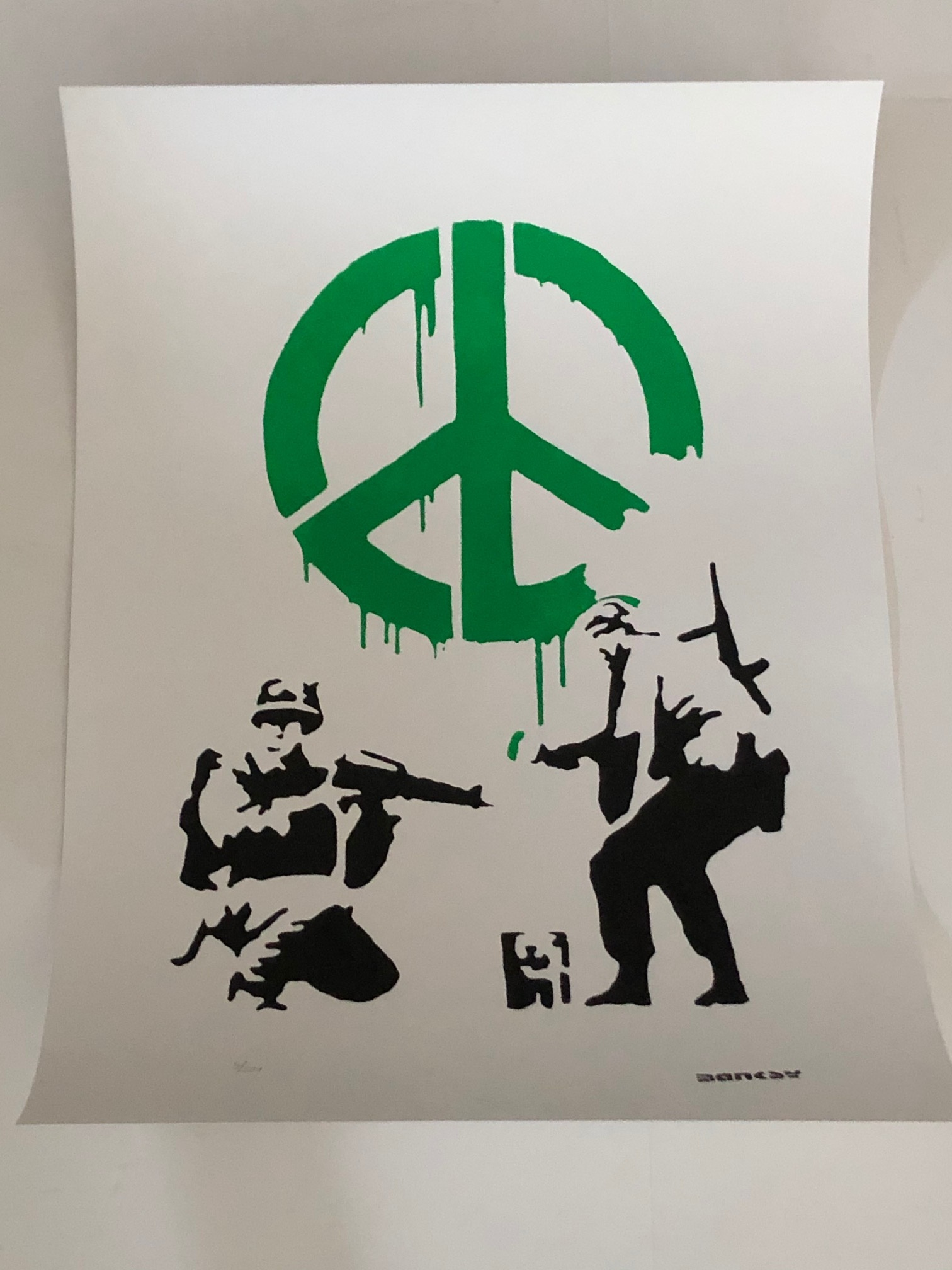 CND Soldiers (Green) by   Banksy - Masterpiece Online