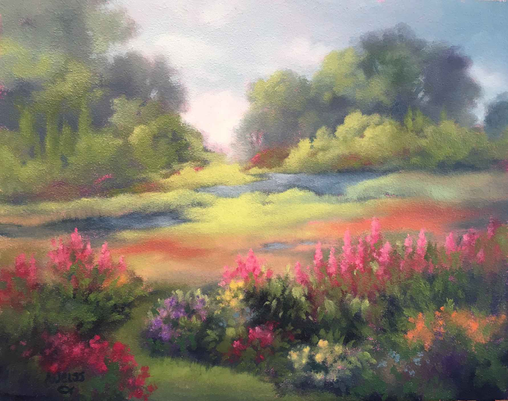 Garden by the River by  Carol Weiss - Masterpiece Online