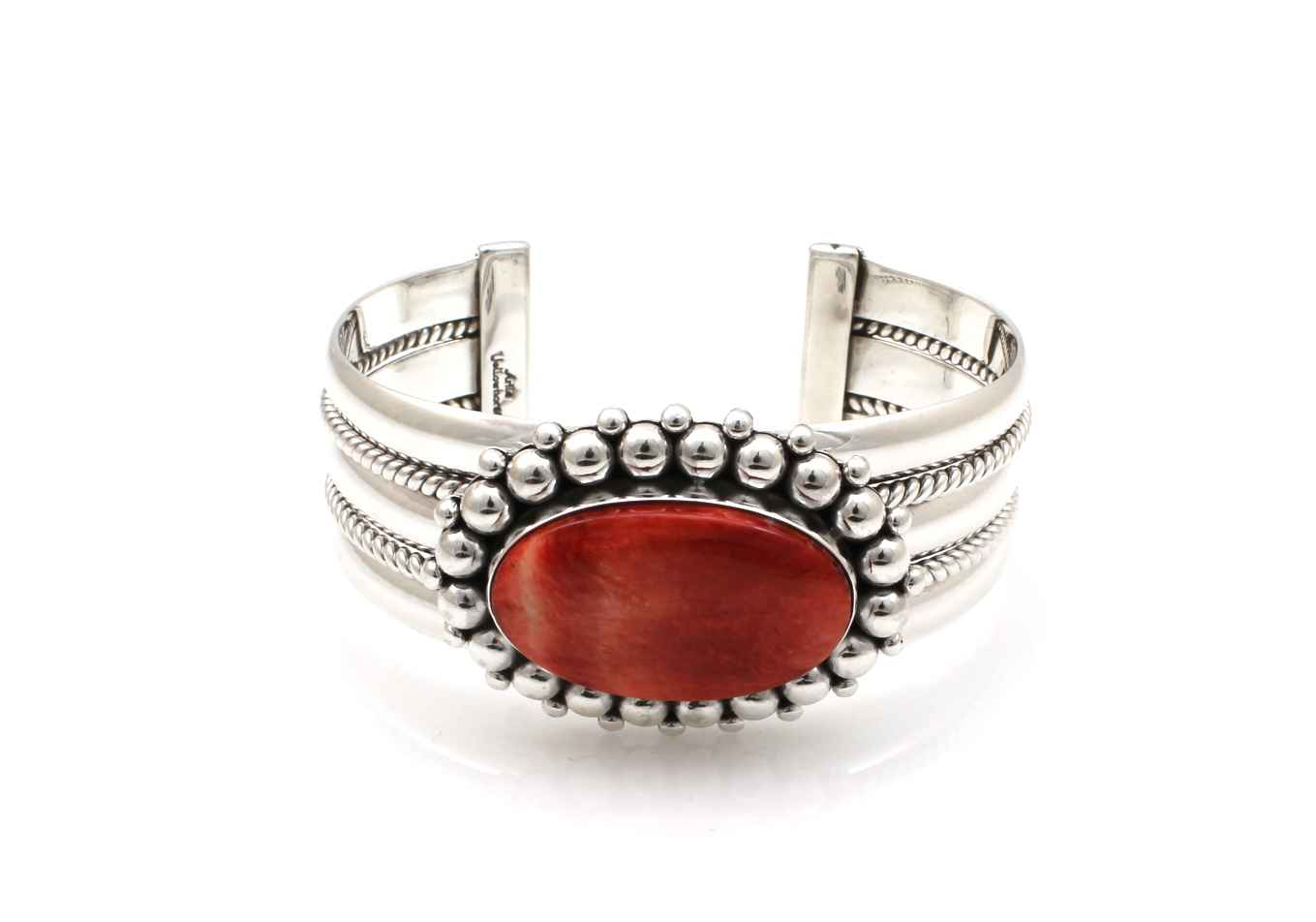 Red Spiny Oyster Cuff... by  Artie Yellowhorse - Masterpiece Online