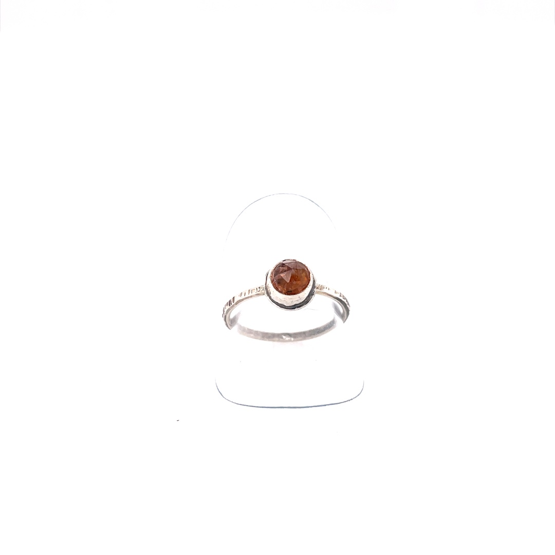 Pink Tourmaline Ring with Sterling Silver Band, Size 8.5