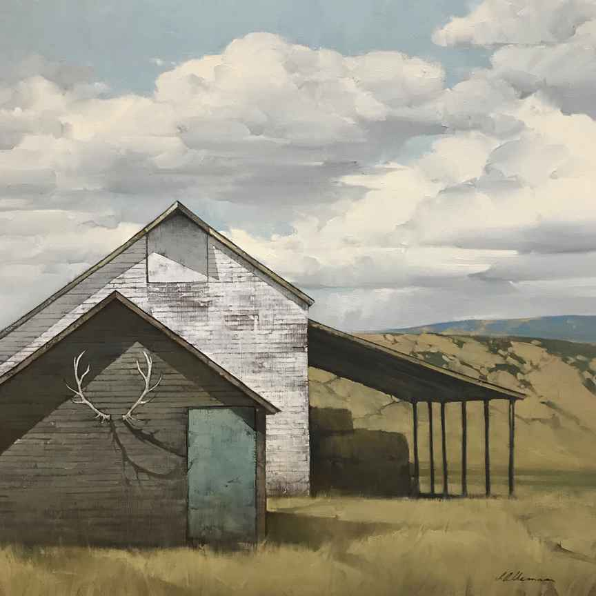 Blue Door Shed by Mr. Joseph Alleman - Masterpiece Online