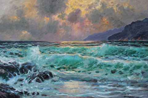 Carmel Sunset by  A Dzigurski II - Masterpiece Online