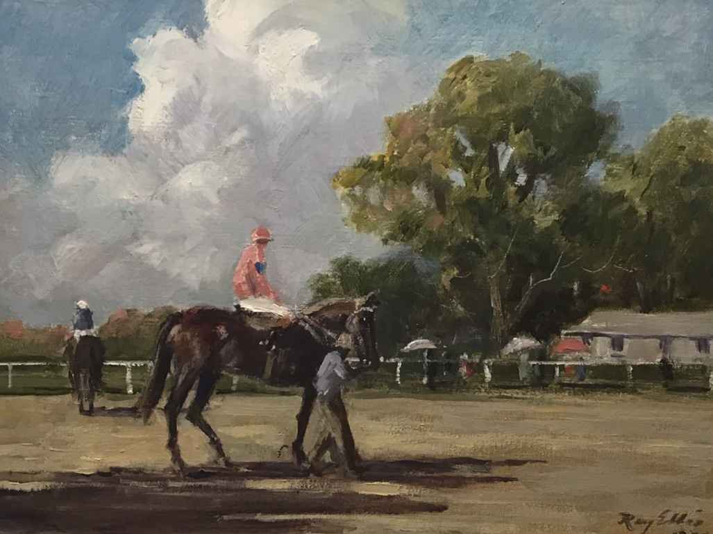 To the Paddock by  Ray Ellis - Masterpiece Online