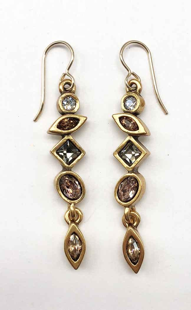 Revelation Earrings in Gold, Champagne