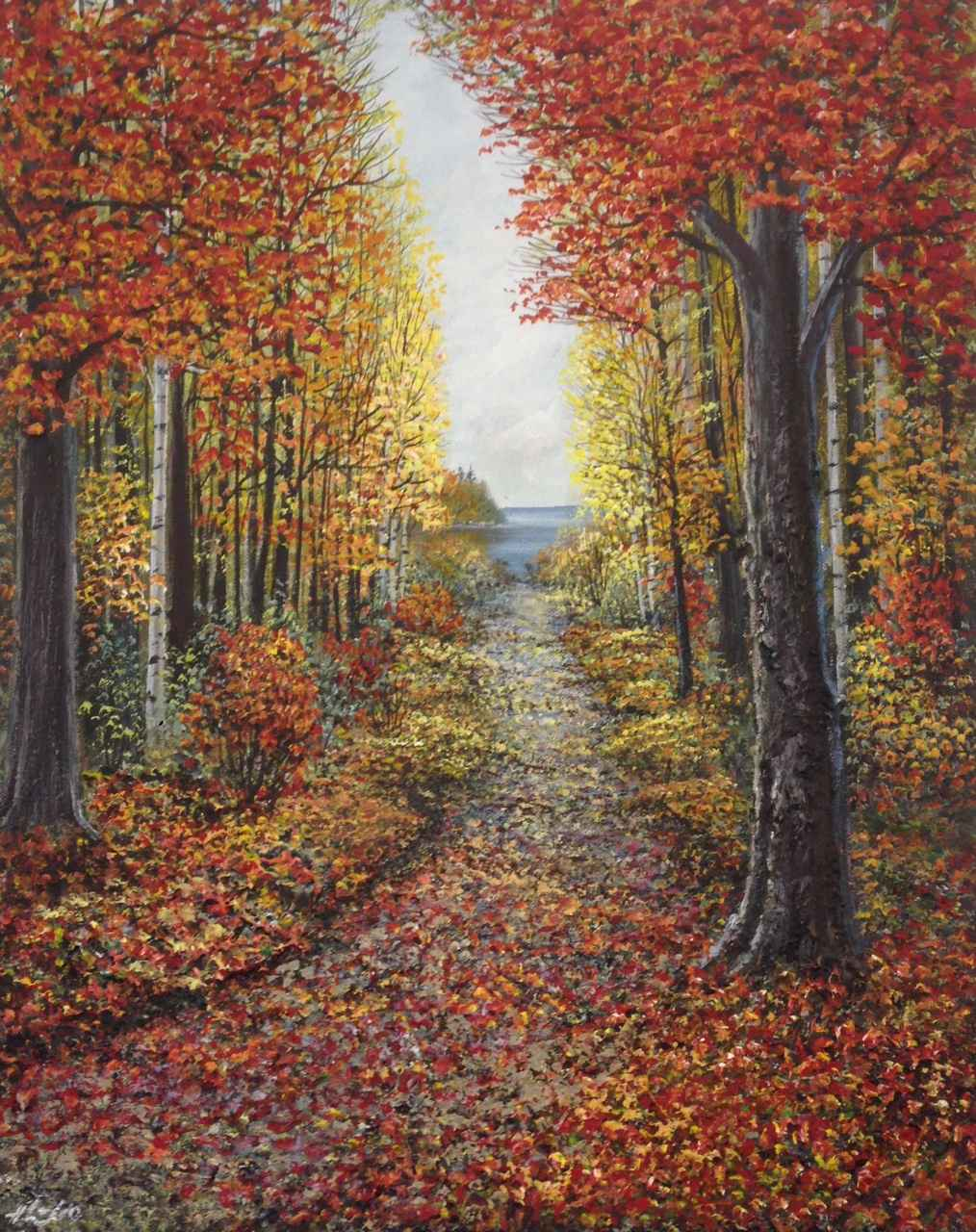 Autumn Path by  Henry Lobo - Masterpiece Online