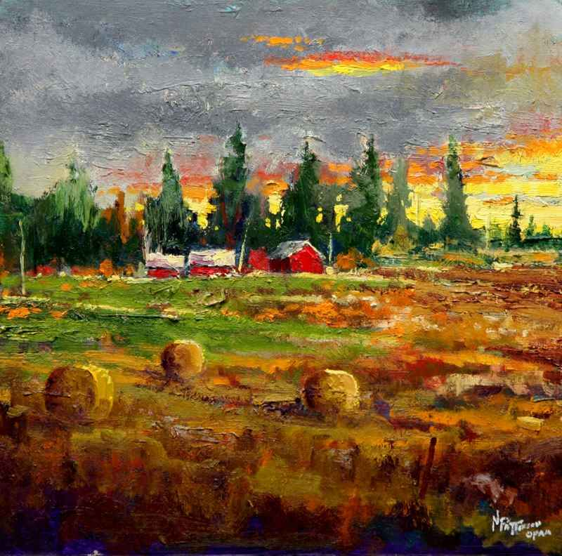 Sunset Bales by  Neil Patterson - Masterpiece Online