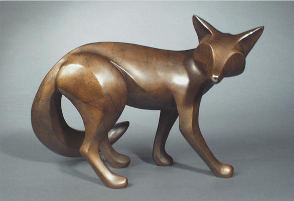 Large Standing Fox by  Michael Tatom - Masterpiece Online