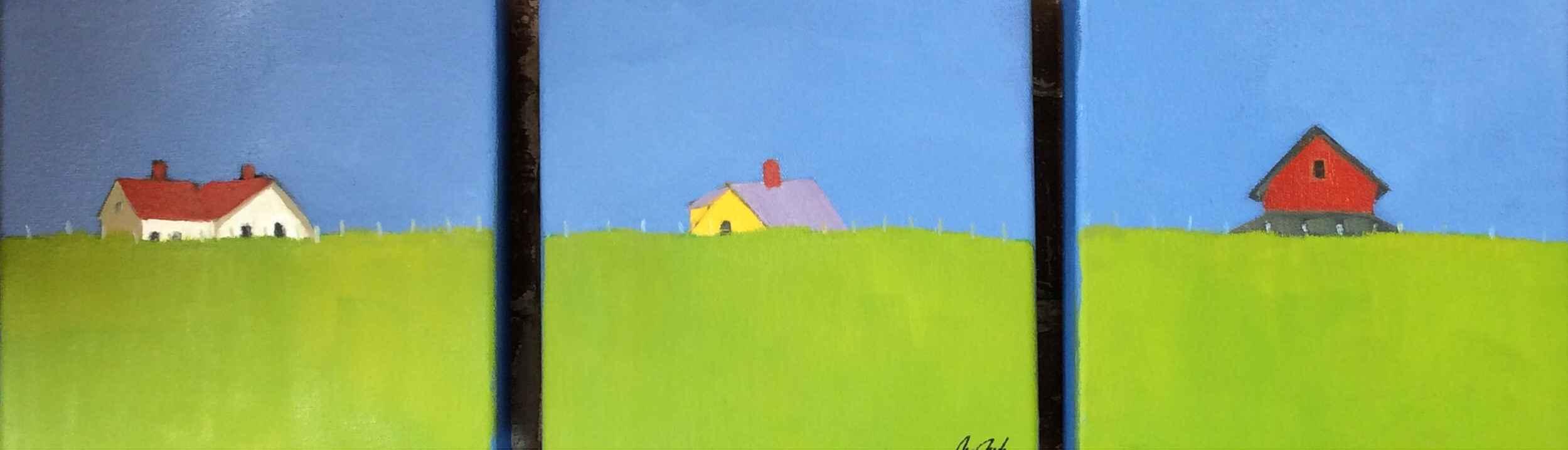 Summer Field (triptyc... by  Jean Jack - Masterpiece Online