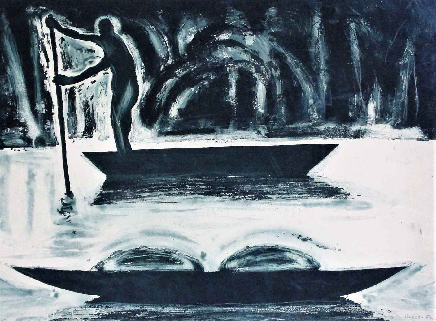 Untitled ( the boater... by  Laura Ross-Paul - Masterpiece Online