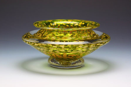 Small Ikebana Bowl in Transparent Lime