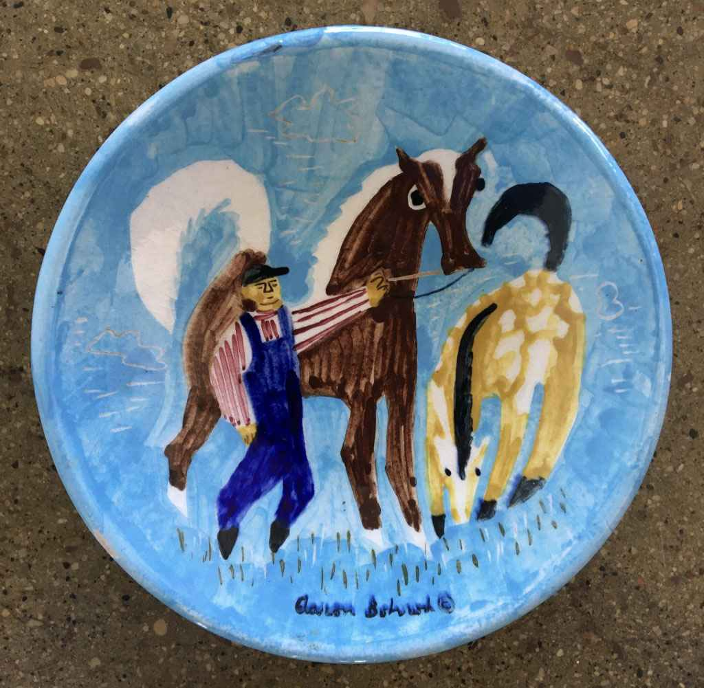 Farmer with Horses by Mr. Aaron Bohrod - Masterpiece Online