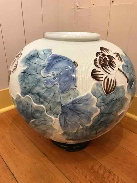 Lotus Design Vase wit... by   Unknown - Masterpiece Online
