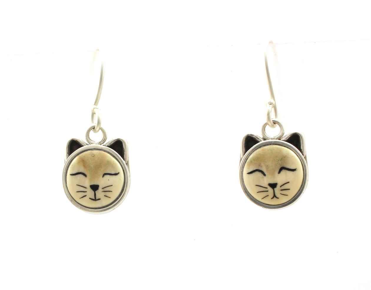 Cat Dangle Earrings by  Michelle Tapia - Masterpiece Online
