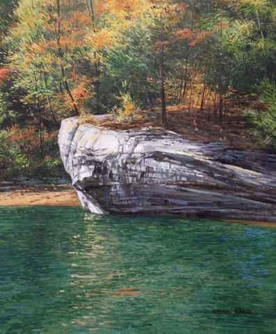 Laurel Lake Shore - R... by  Michael Wheeler - Masterpiece Online